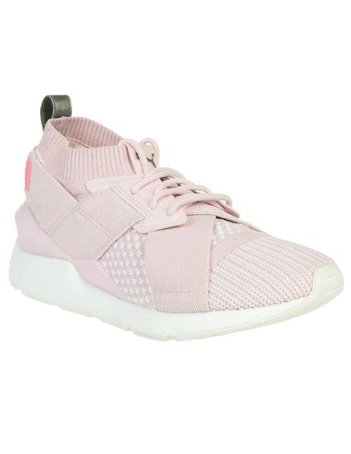 1cdc19b1c5 Tenis tejido Puma rosa