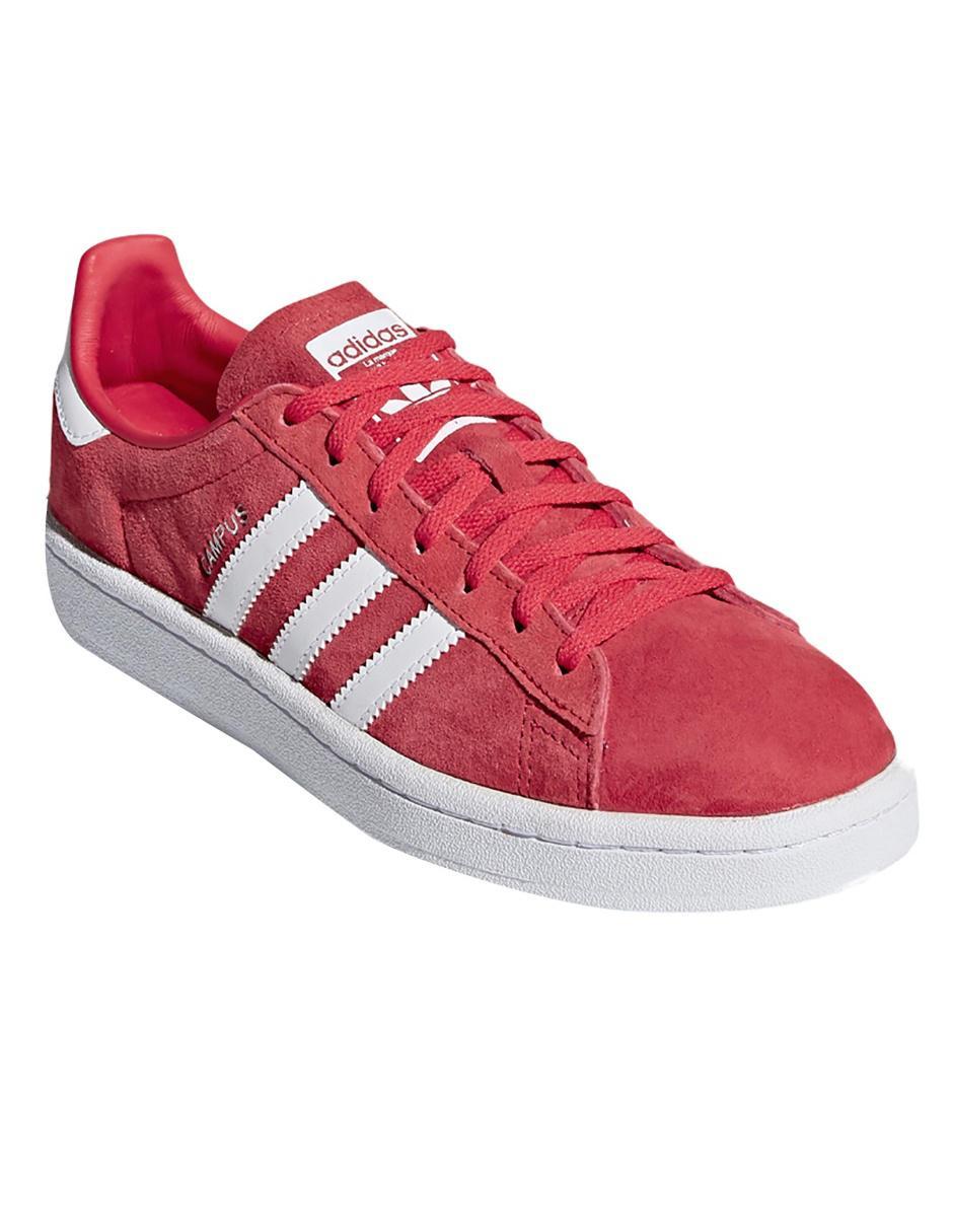 pretty nice b5227 643c2 Tenis liso Adidas Originals Campus piel rojo