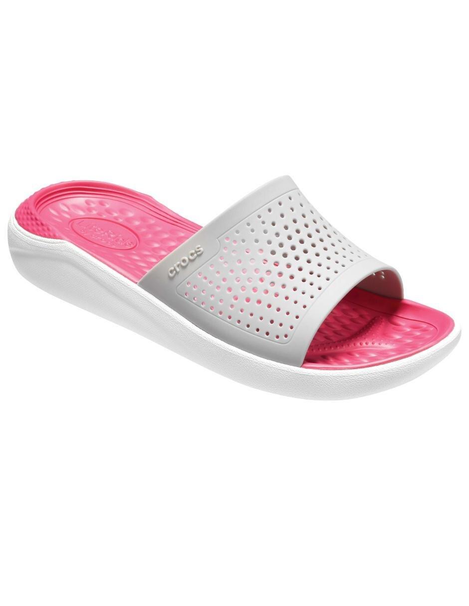 Crocs Corte Con Láser Sandalia Slide Literide Qsmguzvpl Diseño Gris SVUpzM