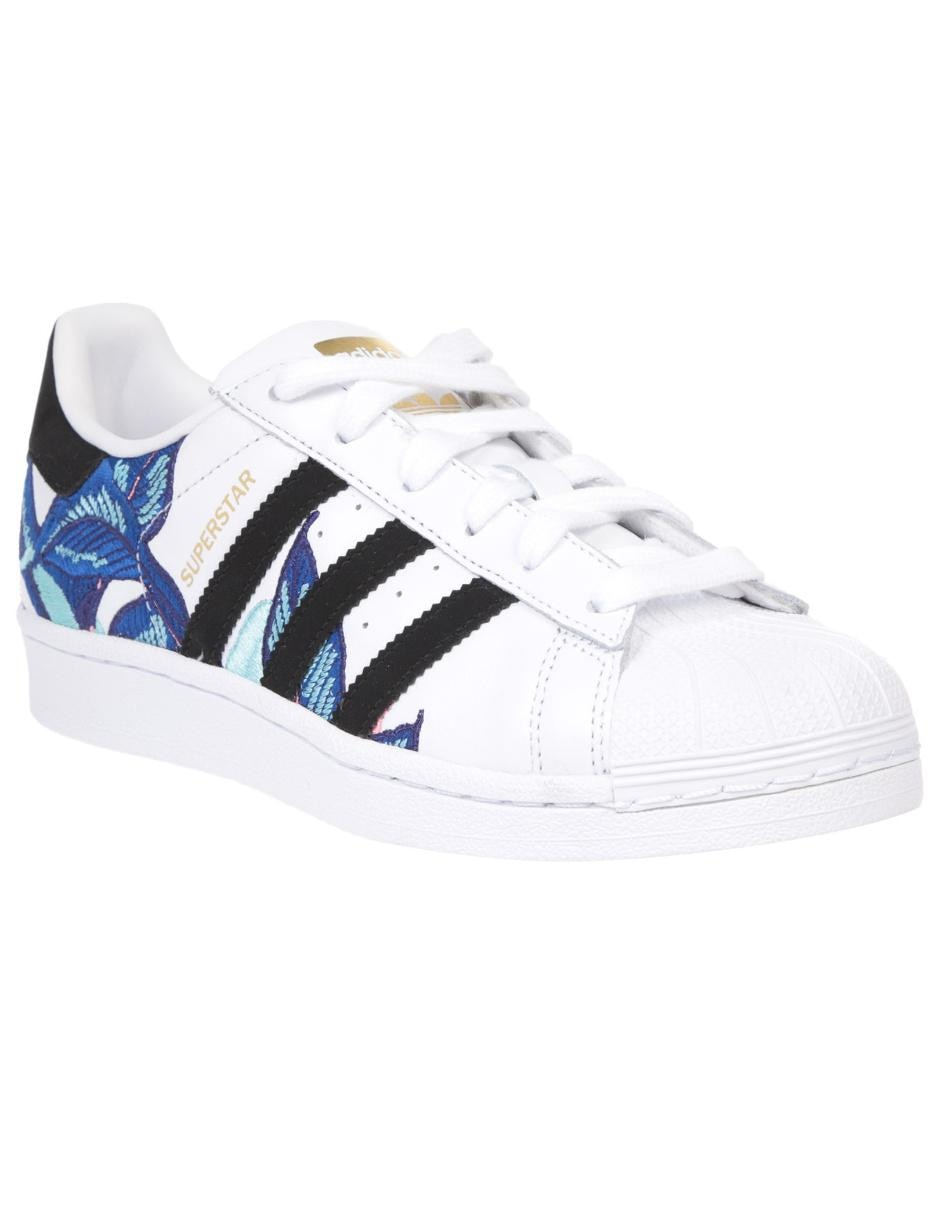 timeless design d51fc 19c99 Tenis con diseño gráfico Adidas Originals Superstar piel blanco