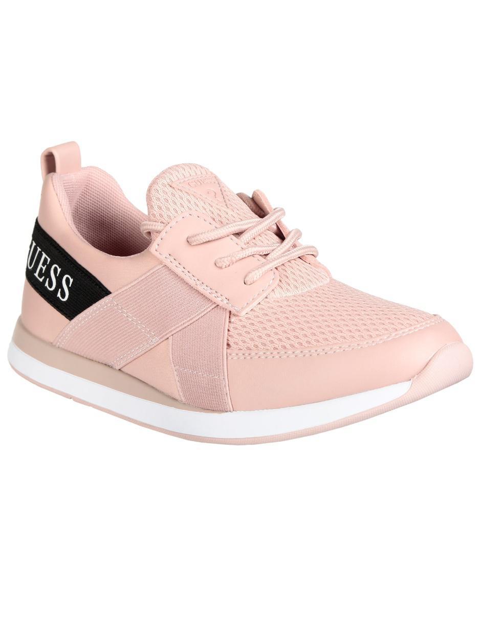 Tenis Guess rosa texturizado