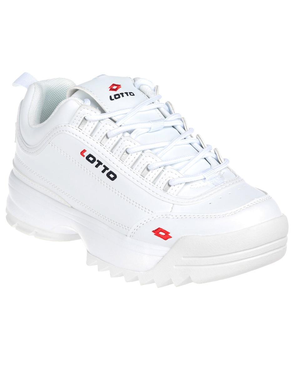 Tenis Lotto blanco con logotipo Precio Lista 0b95dd30bac7b