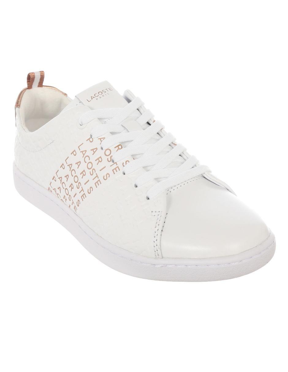 fabea17bd6a Tenis Lacoste piel blanco texturizado