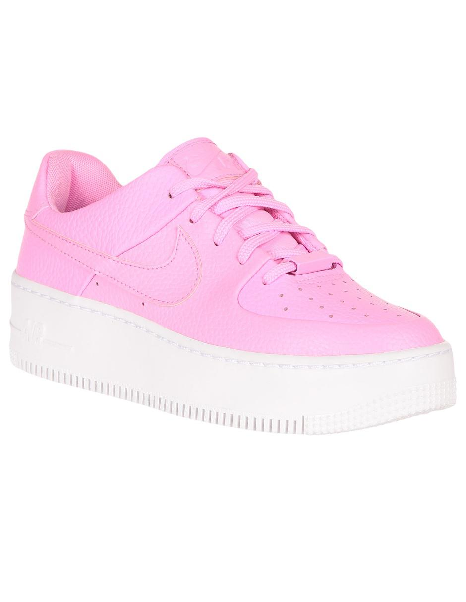 Tenis Nike Air Force 1 Sage Low piel rosa