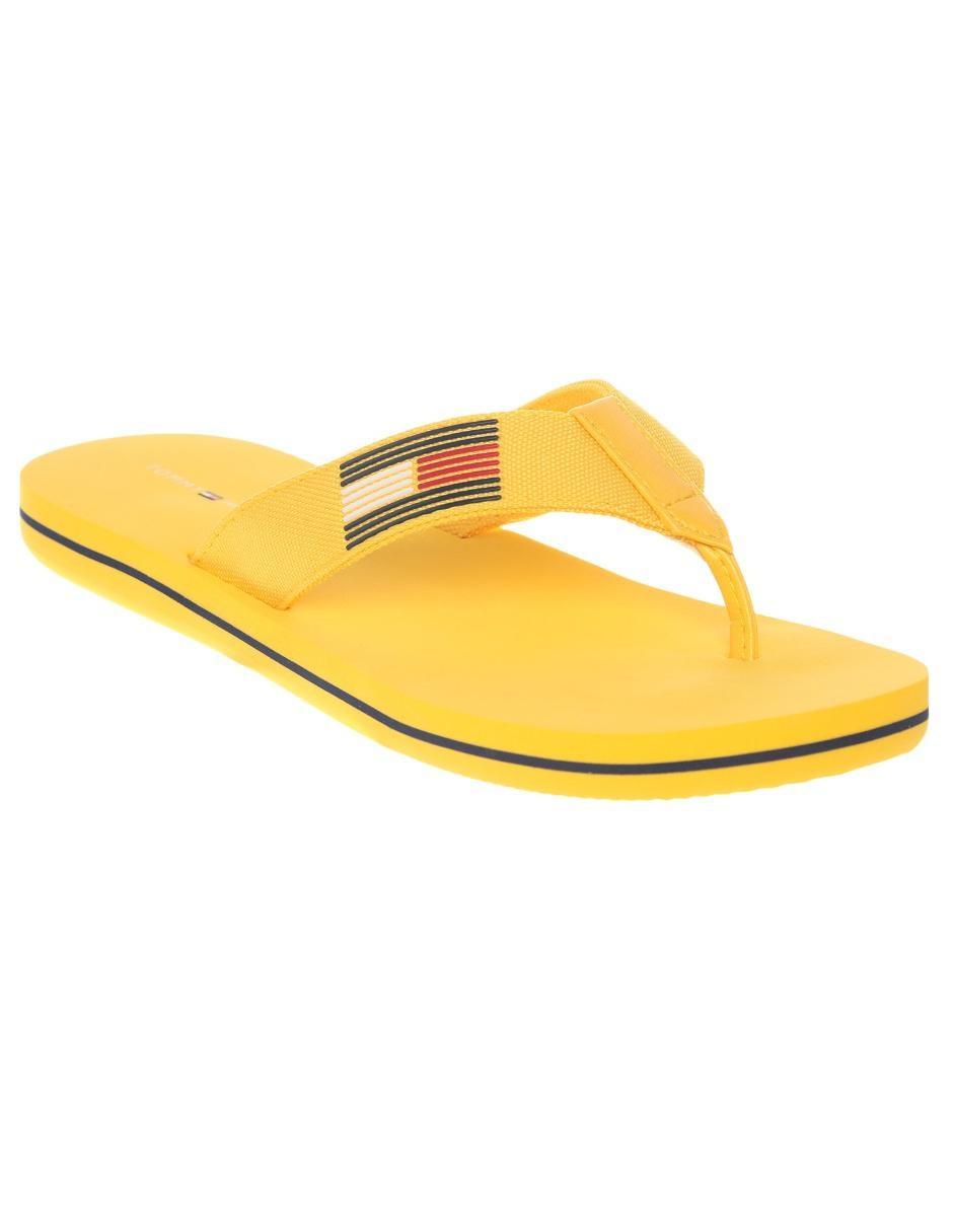 Docenas Adivinar Emulación  Sandalia Tommy Hilfiger amarillo claro con logotipo en Liverpool