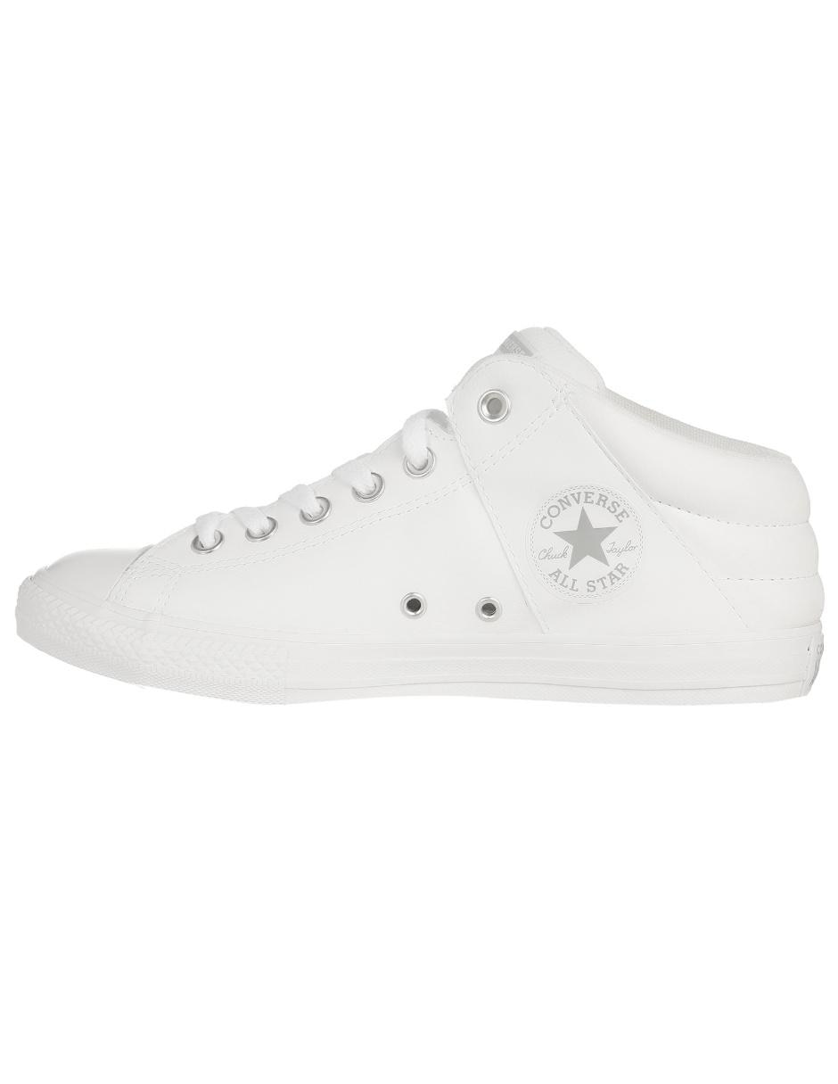 descuento especial de venta caliente estilo de moda Tenis Converse piel blanco con logotipo en Liverpool