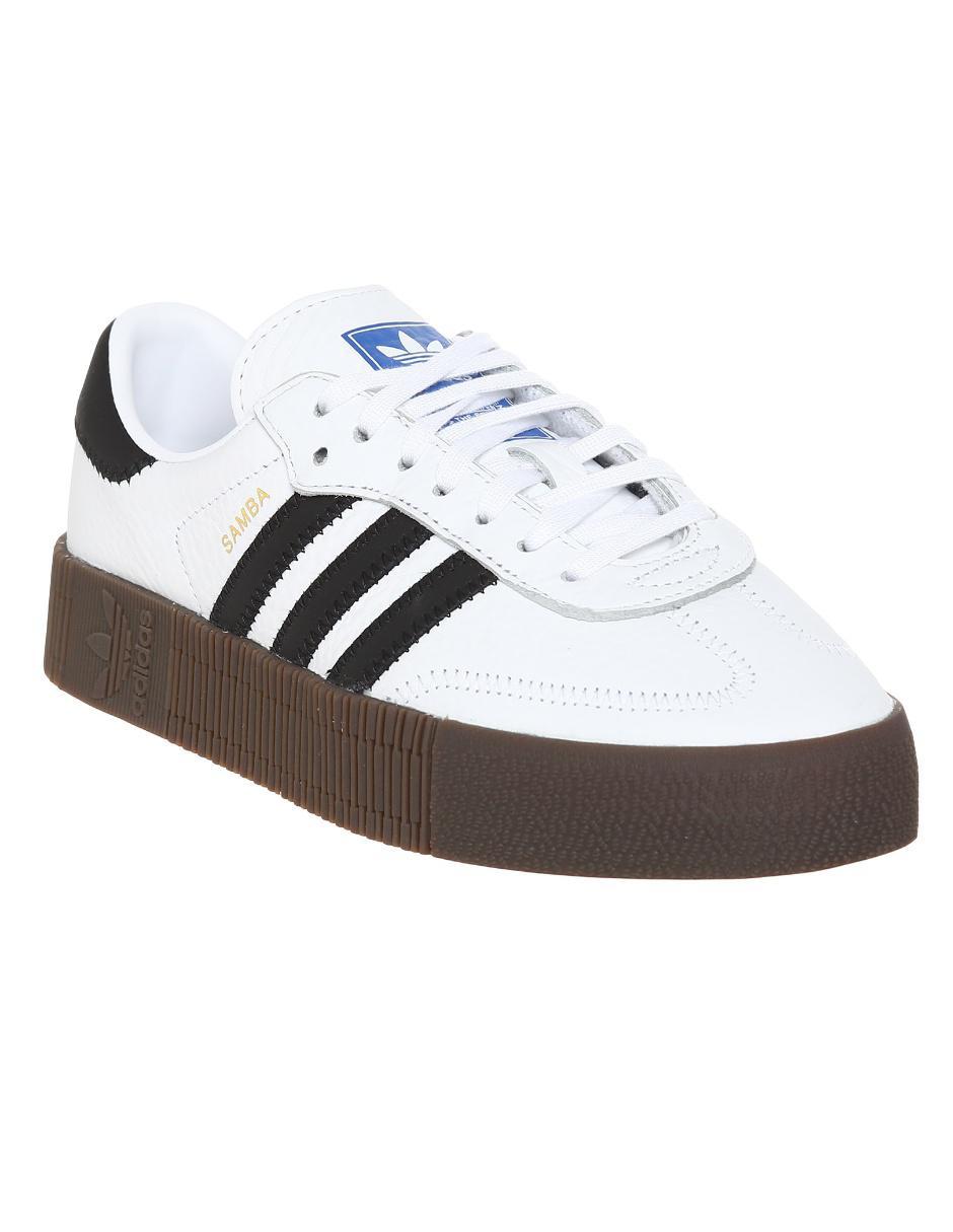 Español Consejo Nublado  Tenis Adidas Originals Sambarose piel blanco en Liverpool