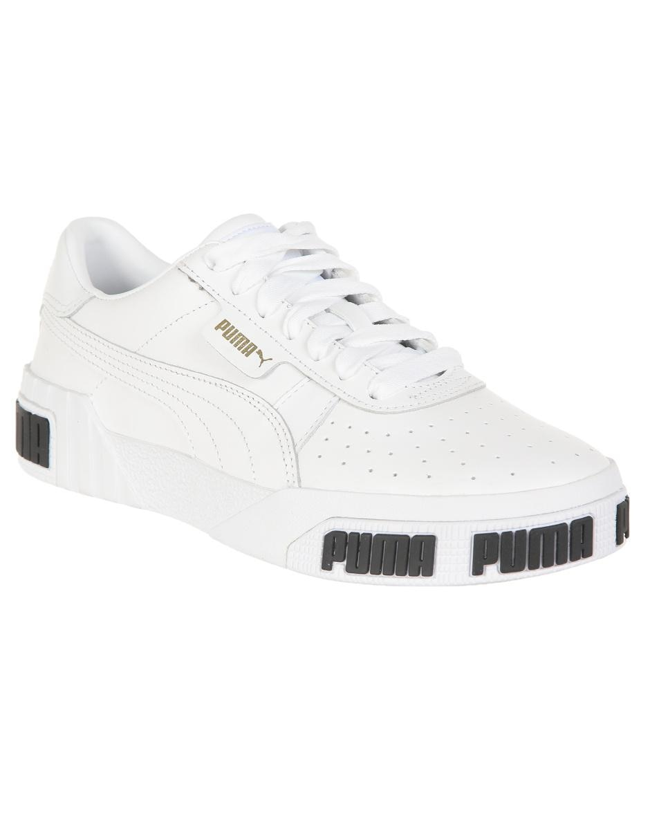 Tenis Puma Cali Bold piel blanco con logotipo