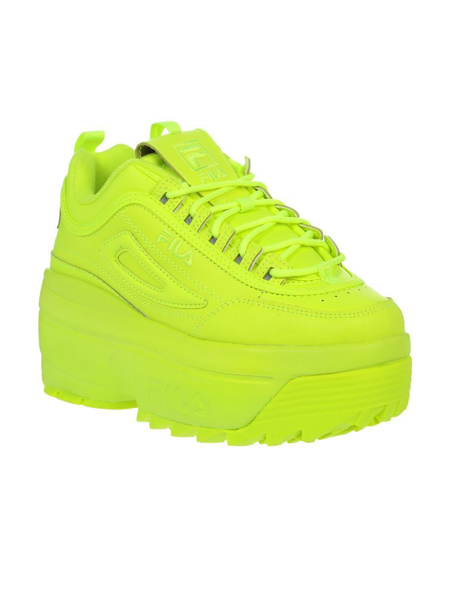 zapatos fila color amarillo