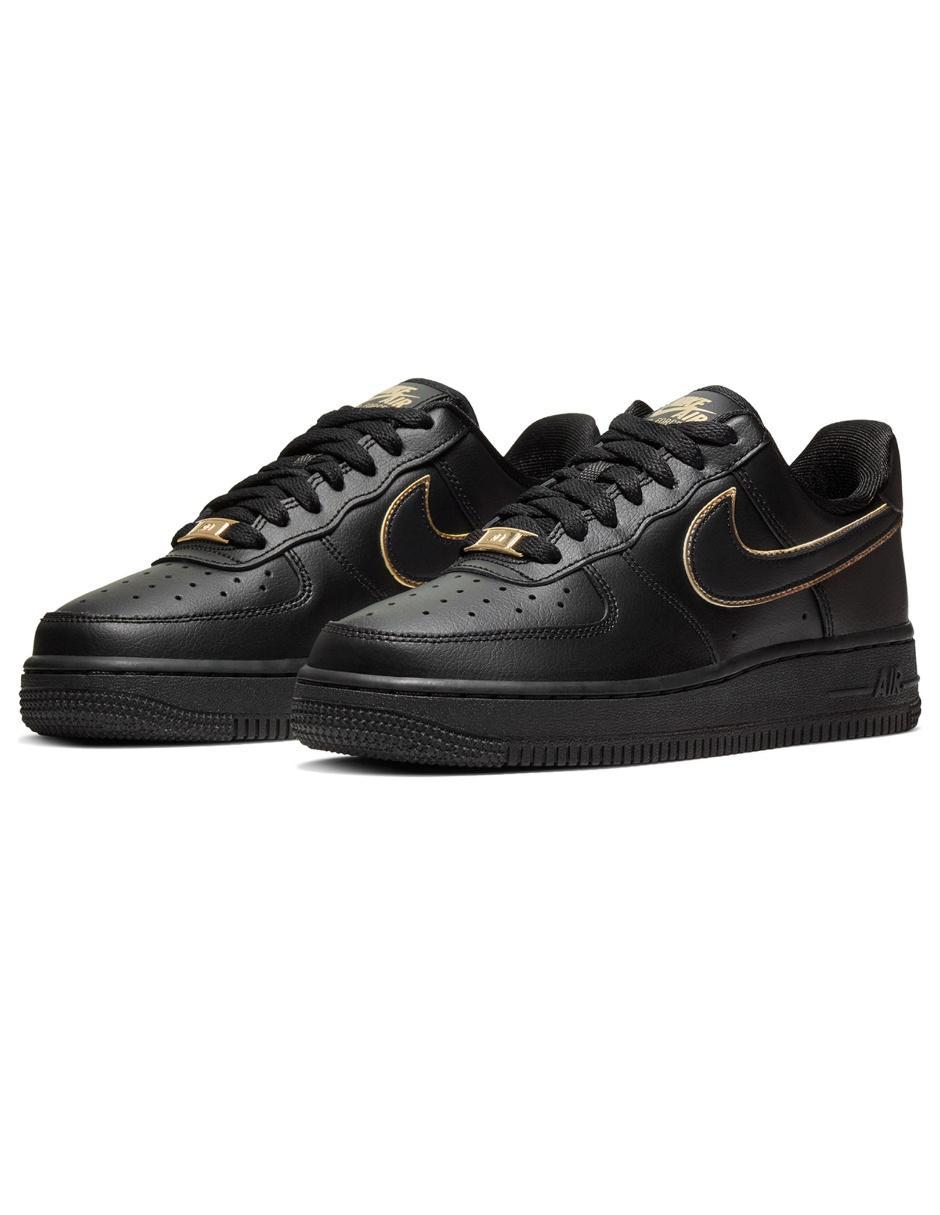 air force 1 negras y dorado