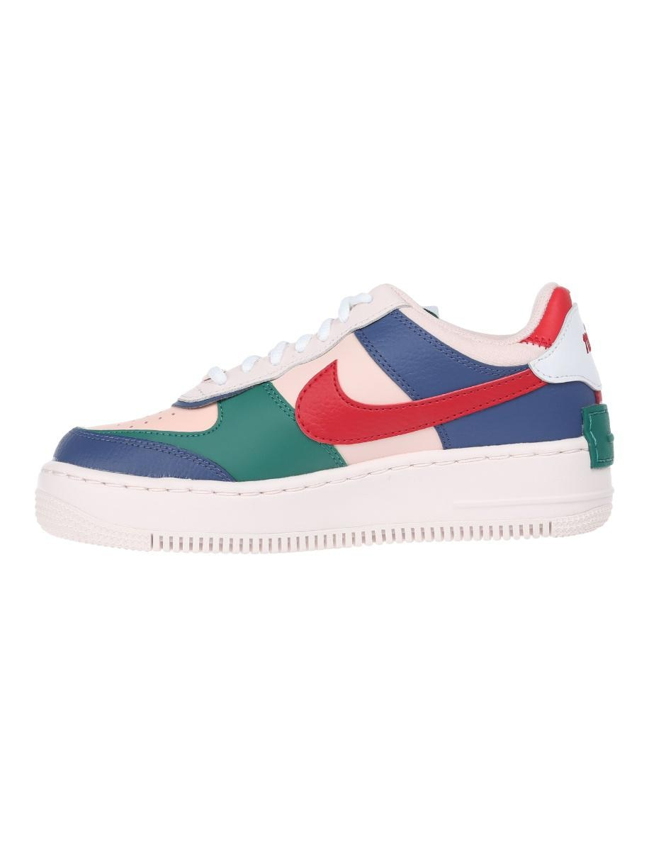 Tenis Nike Air Force 1 Shadow piel azul
