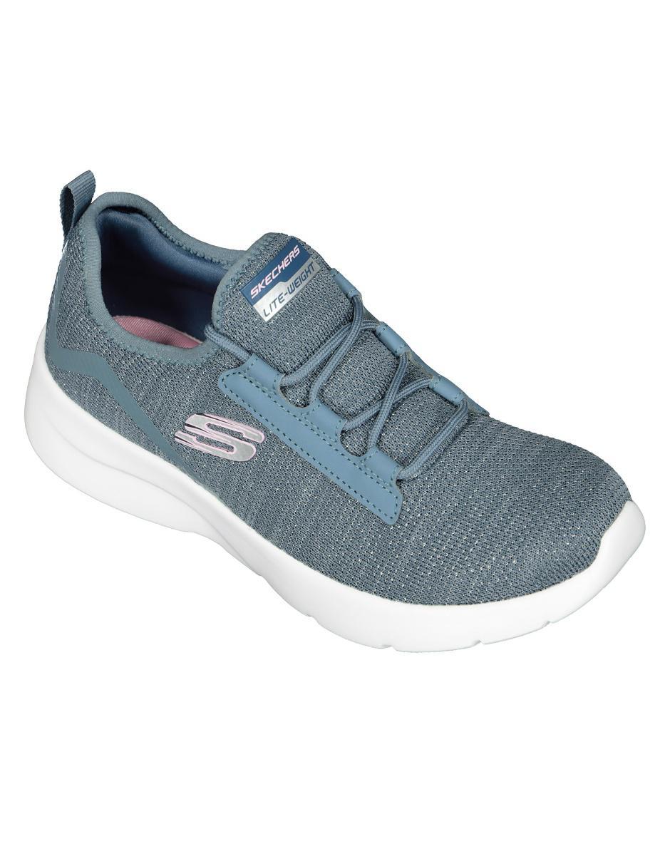Tenis Skechers azul jaspeado
